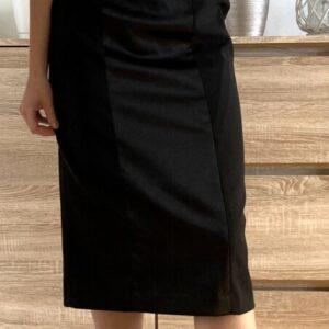 Černé šaty bez ramínek 8