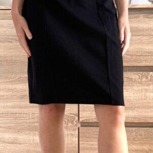 Černé šaty bez ramínek 4