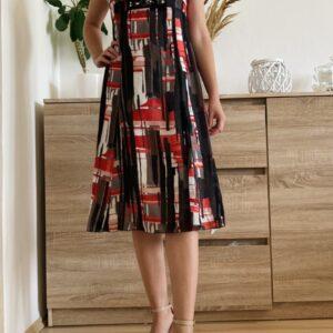 Červeno-černé letní šaty