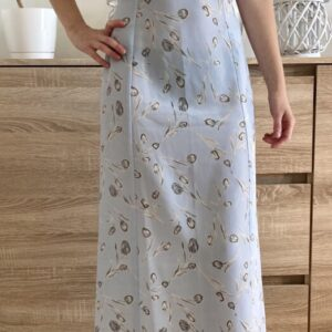 Bledě modré šaty