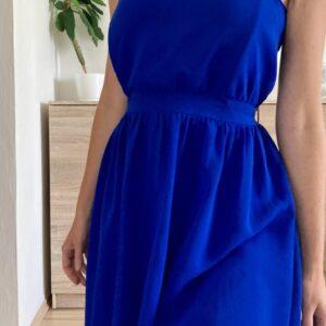 Modré balónové šaty 39.