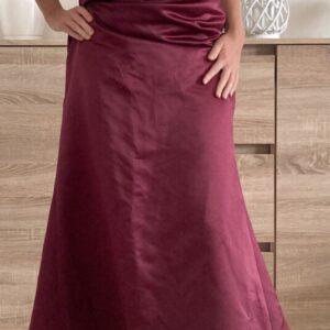 Dlouhé vínové šaty č. 62
