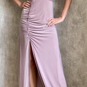 Dlouhé lila šaty