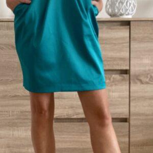 Tyrkysové šaty s kapsami č. 58