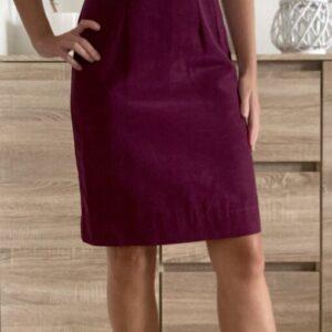 Fialové šaty s mašlí