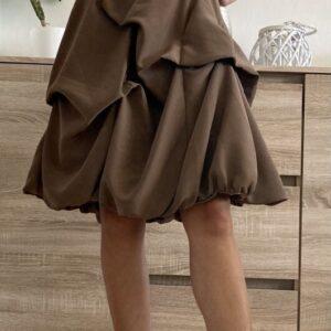 Hnědé plesové šaty č.100