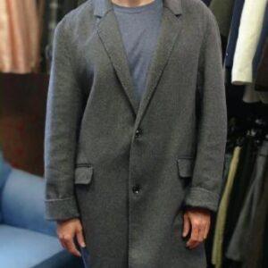 Šedý kabát bez podšívky