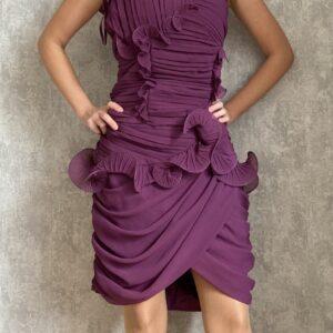 Fialové šaty č.108