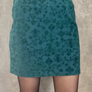 Zelená elastická sukně