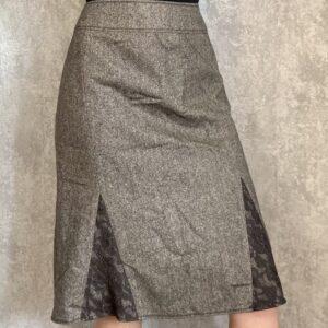 Tvídová vlněná hnědá sukně