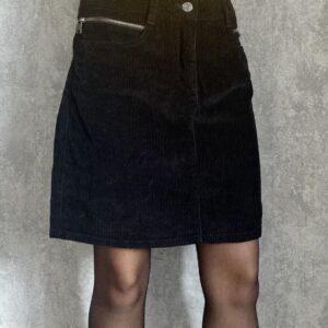 Černá manšestrová sukně NEXT