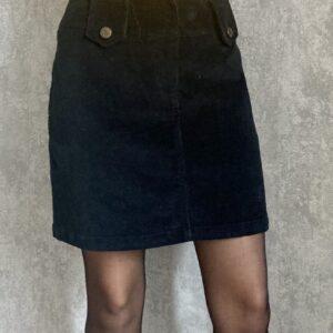 Černá manšestrová sukně LAURA SCOTT