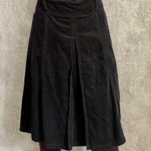 Manšestrová černá sukně
