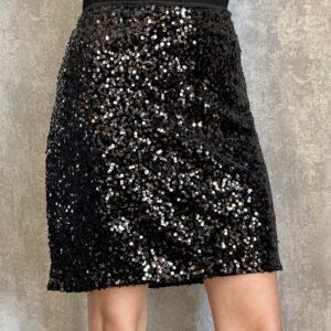 Černá sukně s flitry
